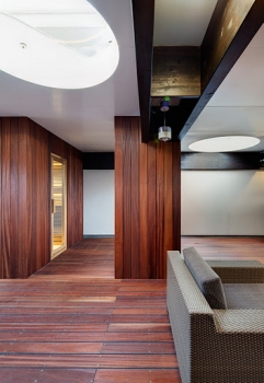sauna a sedenie na terase